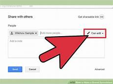 how to make a shared spreadsheet with pictures wikihow