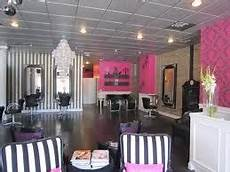 pretty pink black and gray salon salon decor