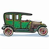 Front End Of An Old Classic Car Clipart Royalty Free GIF