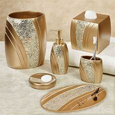 mosaic chagne gold bath accessories