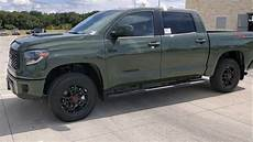 look at army green 2020 toyota tundra trd pro