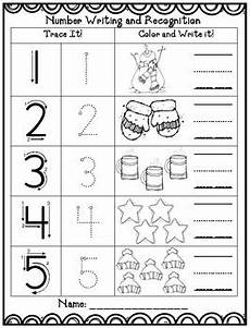 winter pre writing worksheets 20124 winter math 1 10 writing worksheet by preschoolers and