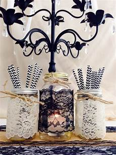 jar lace black lace 4 inch wide 4 yards table decor diy wedding decor craft