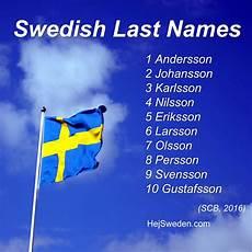 Skandinavische Namen Top 100 - top 100 most common swedish surnames quist str 246 m