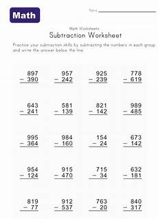 grade 3 math worksheet subtraction 72 best images about second grade worksheets activities