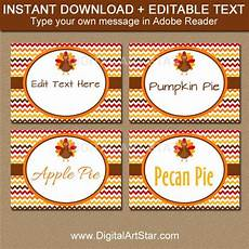 thanksgiving food label cards template fall place cards printable turkey labels editable