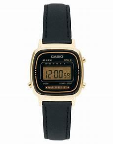 casio casio digitaluhr mit schwarzem lederarmband