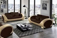 sofa garnitur sale design sofa garnitur 2 3 sitzer braun creme vigo