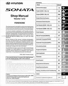 service manuals schematics 1992 hyundai sonata auto manual 2006 hyundai sonata repair shop manual original 2 volume set