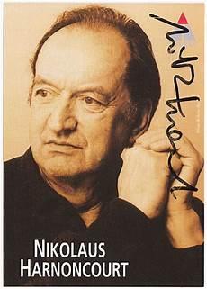 nikolaus harnoncourt autograph austrian conductor