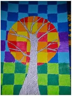 couleur chaude froide arbres couleurs chaudes et froides