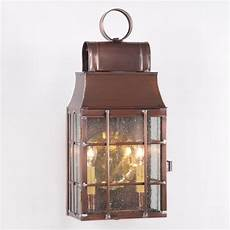 lantern wall light antique copper with seedy glass colonial outdoor la saving shepherd