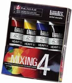 acrylic paint primary color mixing of 6 2oz colors du all art drafting supply