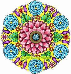 Mandala Blumen - flower mandalas coloring book by thaneeya mcardle