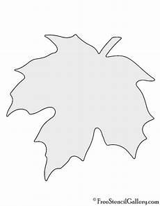 Maple Leaf Stencil Fall Leaf Stencil Maple