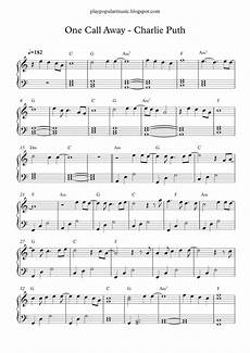 free piano sheet music one call away puth pdf i m only one call away i ll be there