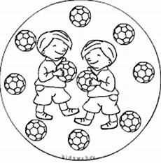 Malvorlage Mandala Fussball Fu 223 Ballmandalas Im Kidsweb De