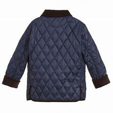 polo ralph boys navy blue quilted jacket