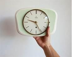 junghans wall clock vintage german ceramic by