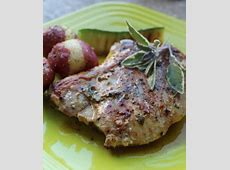 pork cutlets with maple  mustard and sage sauce_image
