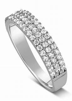 unique 3 row 1 carat diamond wedding ring band in