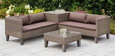 Lounge Set Polyrattan - merxx loungeset 187 bologna 171 11 tlg eckbank tisch