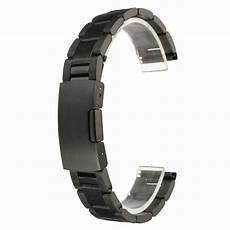20mm Color Band by 18mm 20mm 22mm 24mm Black Color Stainless Steel Band