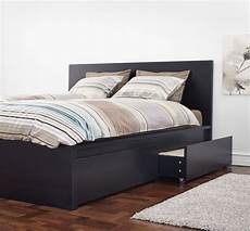 ikea malm size bed with 4 storage drawers for sale