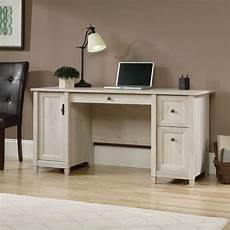 home office furniture computer desk 59 quot two drawer solid wood computer desk in chalked