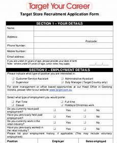 free 6 sle target application templates in ms word