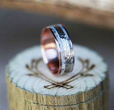 14k rose gold wedding band with hammered white gold