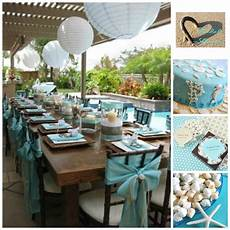 gorgeous beach bridal shower inspiration board on 3d