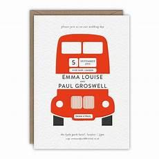 london bus personalised wedding invitation in 2019 personalised wedding invitations wedding