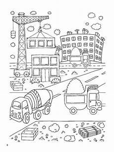 construction site coloring pages free printable
