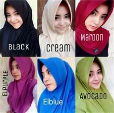 Jilbab Instan Serut Belakang Casual