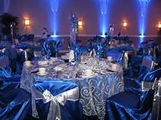 royal blue and silver reception decor royal blue ivory