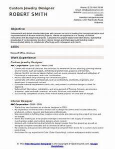 interior designer resume sles qwikresume