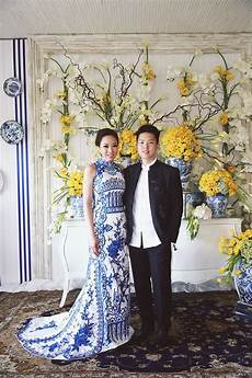 ronald and s colourful wedding with chinoiserie