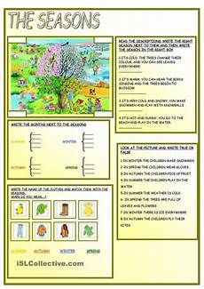seasons time and weather worksheets 14867 the seasons английский