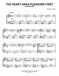 michael nyman the heart asks pleasure first from the piano sheet music notes printable new