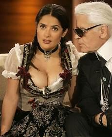 Salma Hayek Dirndl - salma is poppin out buzzword101