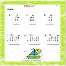 money rupees worksheets 2309 maths adding rupees paise worksheets for class 2 estudynotes