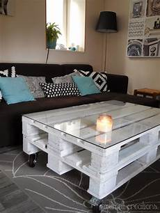 Table Basse Palette Blanche