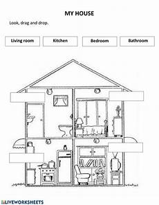 worksheets rooms 19037 my house interactive worksheet
