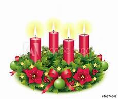 vierter advent adventskranz freigestellt kaufen sie