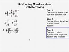 subtraction of mixed numbers with regrouping worksheets 10695 subtracting mixed numbers with borrowing