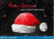 merry christmas santa claus hat card vector stock vector illustration of illustration card