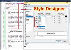 html draw a div container with a border in visual studio codedocu net framework
