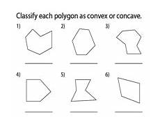 convex and concave polygons worksheets types of polygons worksheets classify and name the polygons