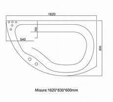 misure vasche idromassaggio vasca idromassaggio misure 165x83 cm con 8 getti